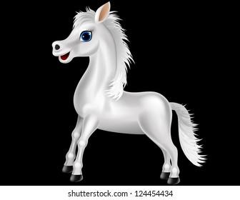 White horse cartoon