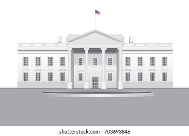 White House detailed vector drawn