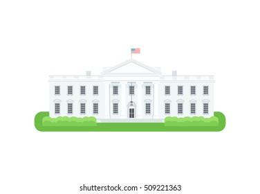 White House detailed vector Icon. President residence vector illustration.