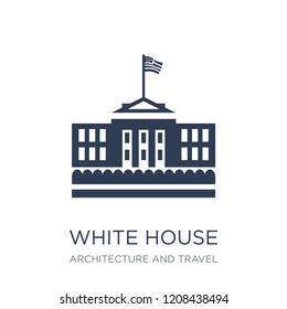 White House icon. Trendy flat vector White House icon on white background from Architecture and Travel collection, vector illustration can be use for web and mobile, eps10