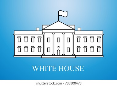 White House simple illustration