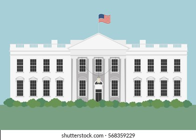 White House in Washington D.C in United States of America