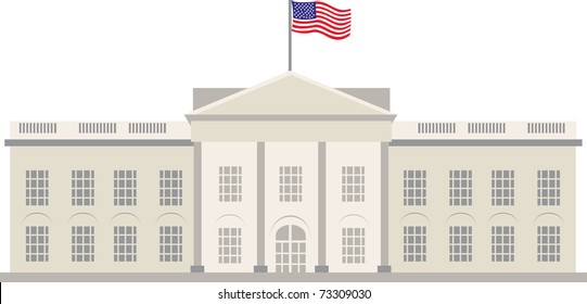 White House in Washington DC, vector