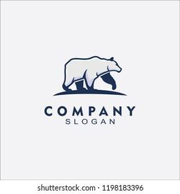 White ice Bear logo vector