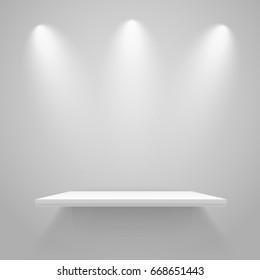 White illuminated shelf