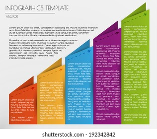 white infographics with blue,red, orange, purple and green elements