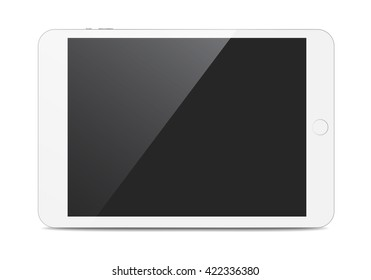 White isolated tablet with shadow
