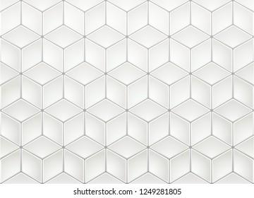 White Isometric Background
