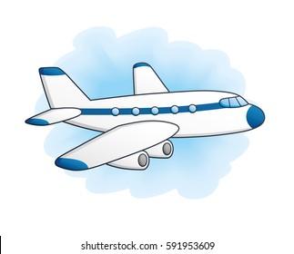 cartoon airplane images stock photos vectors shutterstock rh shutterstock com cartoon plane images airplane cartoon images
