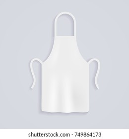 White kitchen aprons. Chef uniform for cooking. Vector illustration.