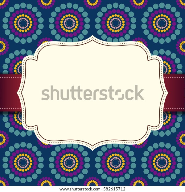 white label on seamless multicolor background