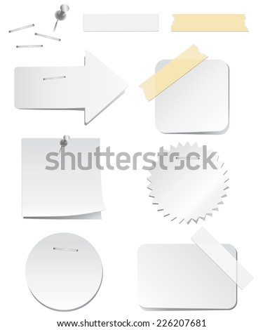white labels staples tape vector labels stock vector royalty free