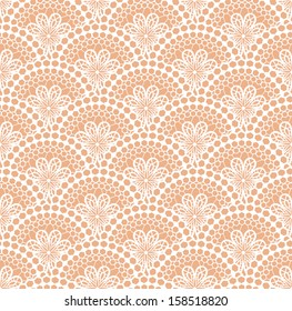 White lace pattern. Vector illustration