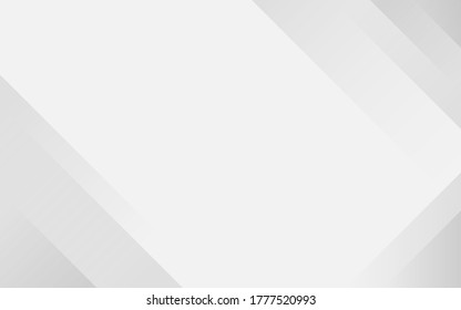 White and light gray lines technology modern geometric shape subtle abstract background vector illustration