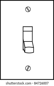 white light switch vector off