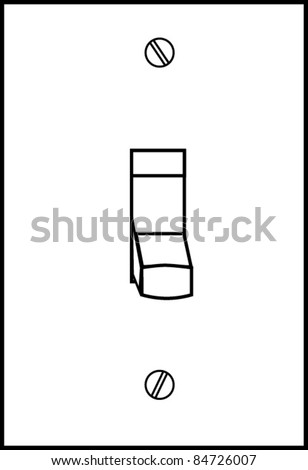 White Light Switch Vector Off Stock Vector Royalty Free 84726007