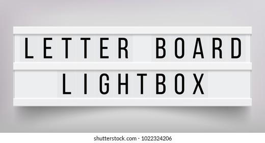 Letter Light Boxes.Letter Light Box Stock Illustrations Images Vectors