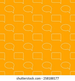 white line speech icon pattern on yellow background