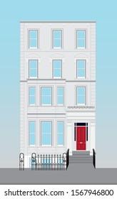 white London house. London street. English real estate.