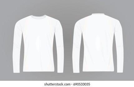 White long sleeve t shirt. vector illustration