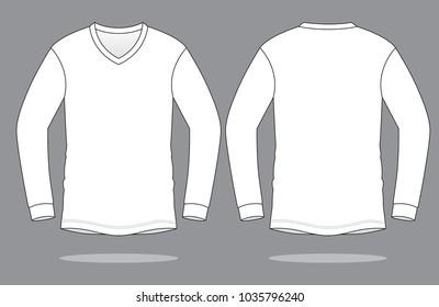 Long Sleeve Shirt Template Images Stock Photos Vectors Shutterstock - Long sleeve t shirt template