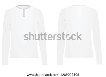 01166b136fc9 White Long Sleeved T Shirt Vector Stock Vector (Royalty Free ...