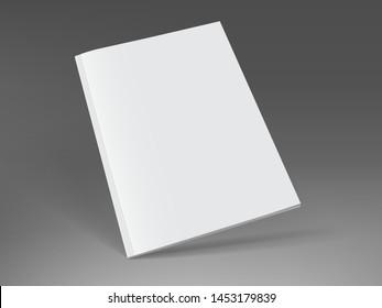 white magazine on dark background mock up vector