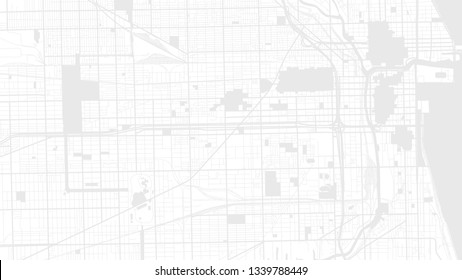 white map city chicago. digital art background
