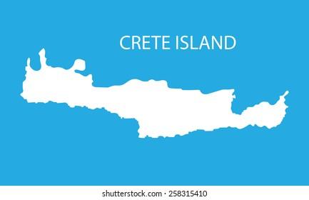 white map of Crete