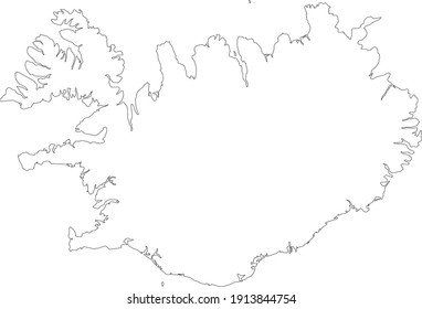 The white map of Iceland, Borders of Iceland