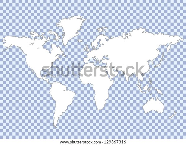 White Map On Checker Pattern Vector Stock Vector (Royalty Free ... on