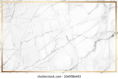 White marble Vector background. Marble with golden texture. Modern design template for wedding, invitation, web, banner, card, pattern, wallpaper vector illustration. Easy to use by place your text .