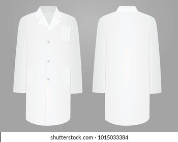 White medical coat. vector illustration.
