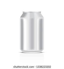 White metal can isolated on a white background
