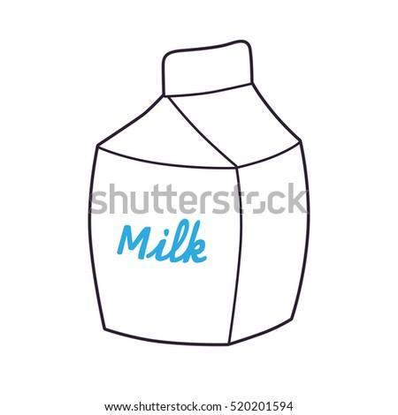 White Milk Carton Template Icon