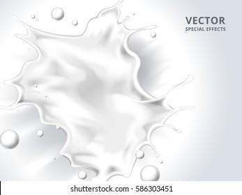 white milk liquid splash background, 3d illustration