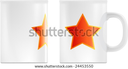 white mug design template contains gradient stock vector royalty