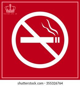 White No smoking sign
