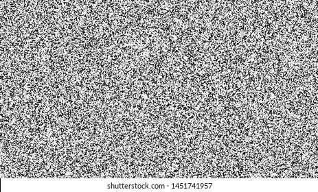 White noise texture. Static interference grunge vector background. TV screen no signal