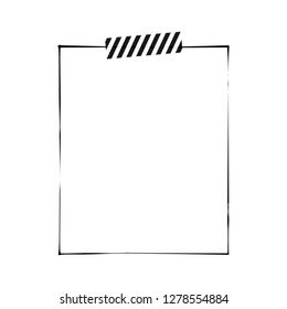 White note paper with tape