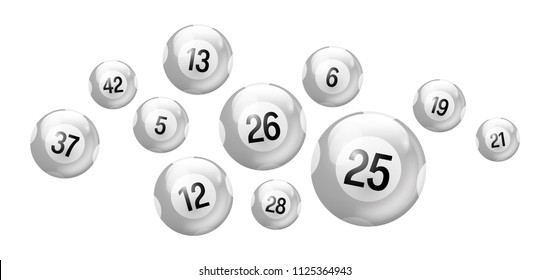 White Number Balls Set