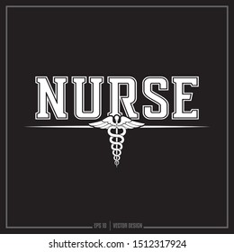 White Nurse caduceus insignia, Nurse logo, Medical icon