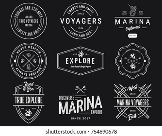 White on Black Sea Badges Vol. 1 for any use