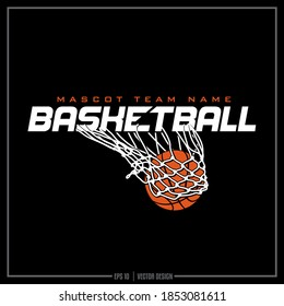 White and Orange Basketball insignia, Basketball Net, Sports Ball, Team, Game, Basketball logo