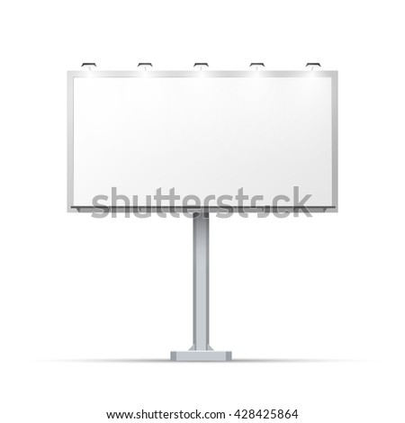 White Outdoor Billboard Place Advertising Lighting Stock