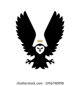 white owl bird logo vector icon illustration