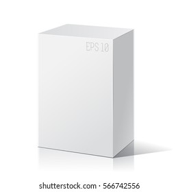White package box. Product Packing Vector.