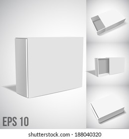 White Package Box. SET