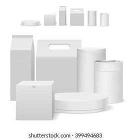 White package design template set