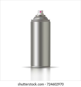 White Paint Aerosol Spray Metal Bottle Can, Graffiti, Deodorant, Household Chemicals, Poison.